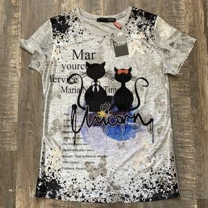 NEW NESS cute shirt with sequins